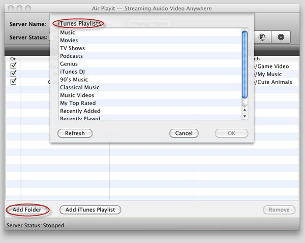 Streaming Music Audio to iPhone iPad from Mac, No iTunes Syncing