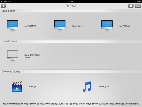 Air Playit - streaming video audio on PC/Mac to iPhone, iPad, iPod for free