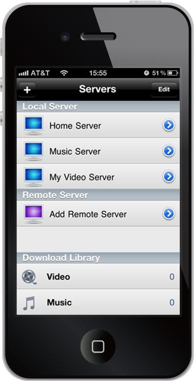 Air Playit iPhone Client screenshot